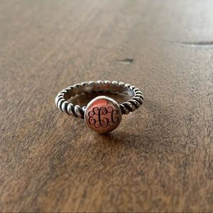 Monogram James Avery Ring (size 6) ECC